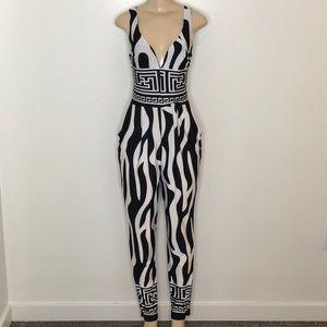 Pants - Black/White Jumpsuit